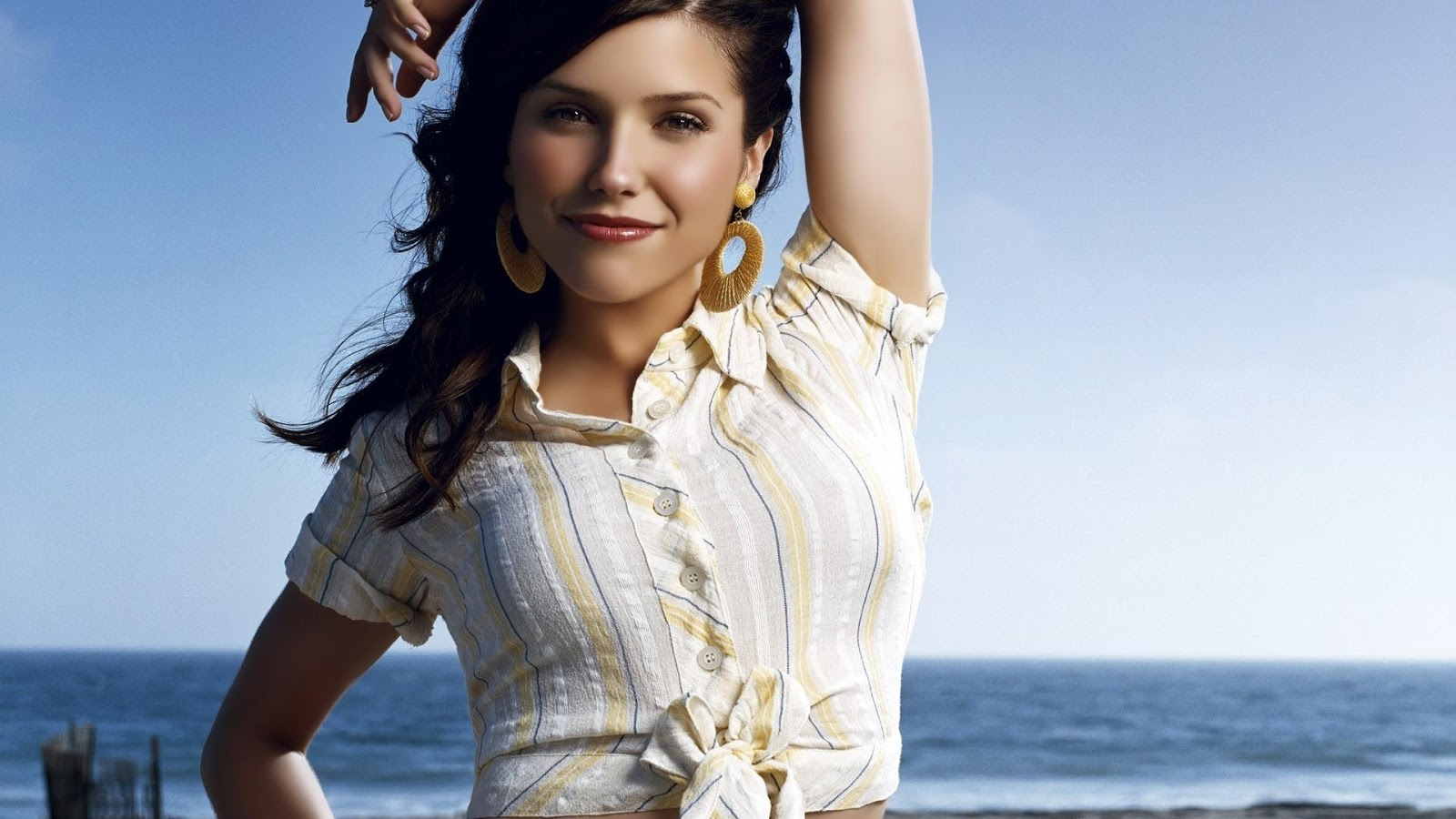 Sophia Bush at Beach