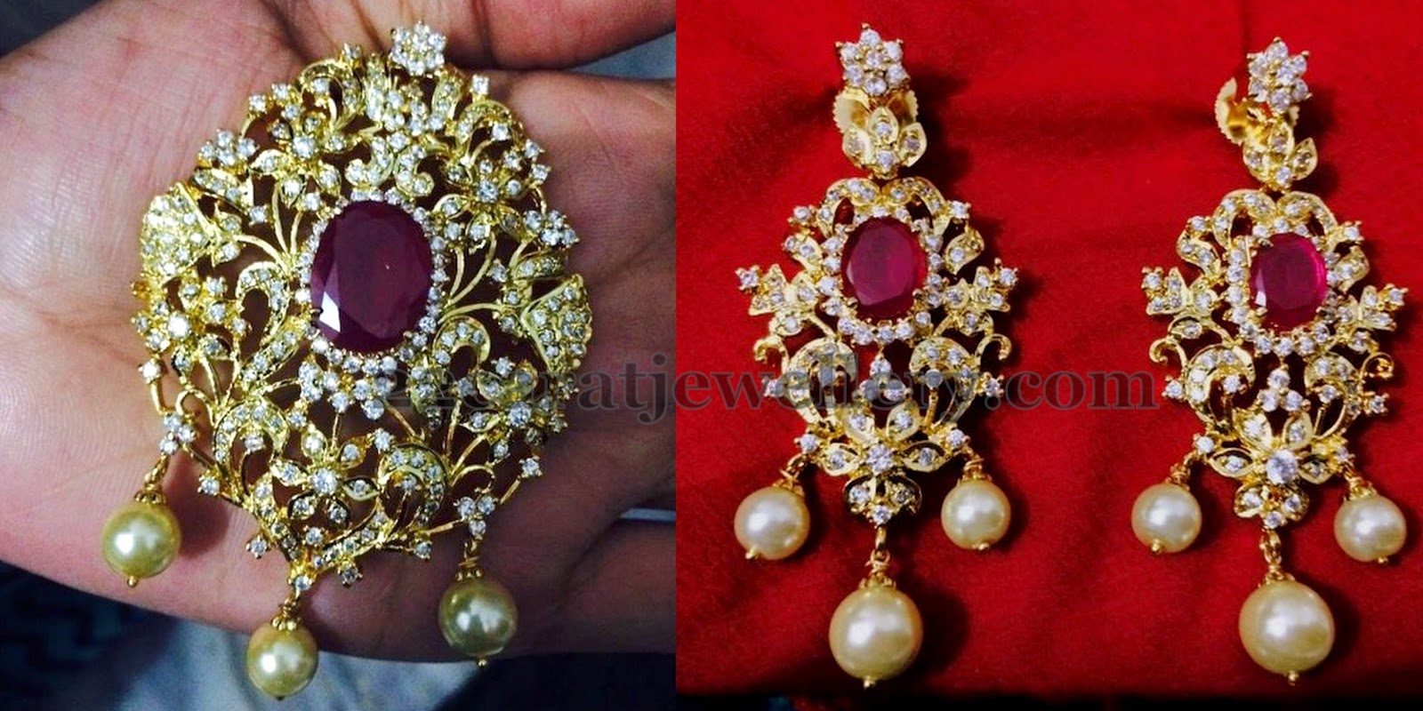 1 gram gold cz pendants gallery jewellery designs 1 gram gold cz pendants gallery aloadofball Image collections