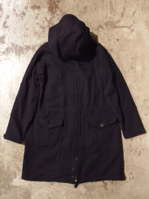 engineered garments over parka in dk.navy 19oz all wool flannel