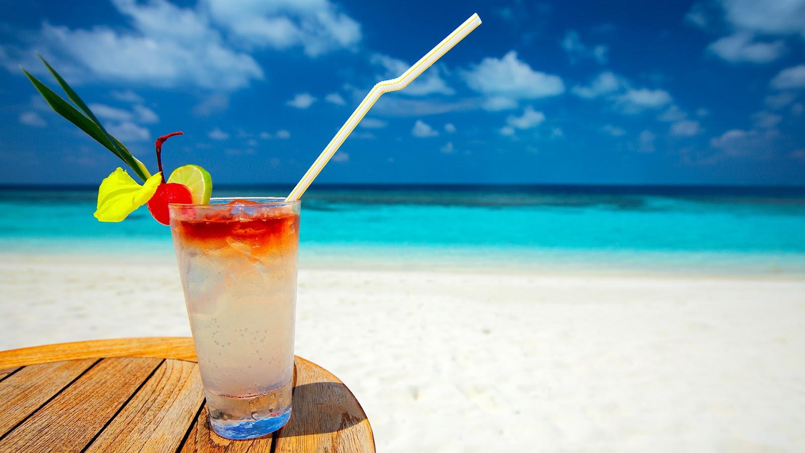 tło pulpitu plaża drink morze piasek lato krajobrazy widoki