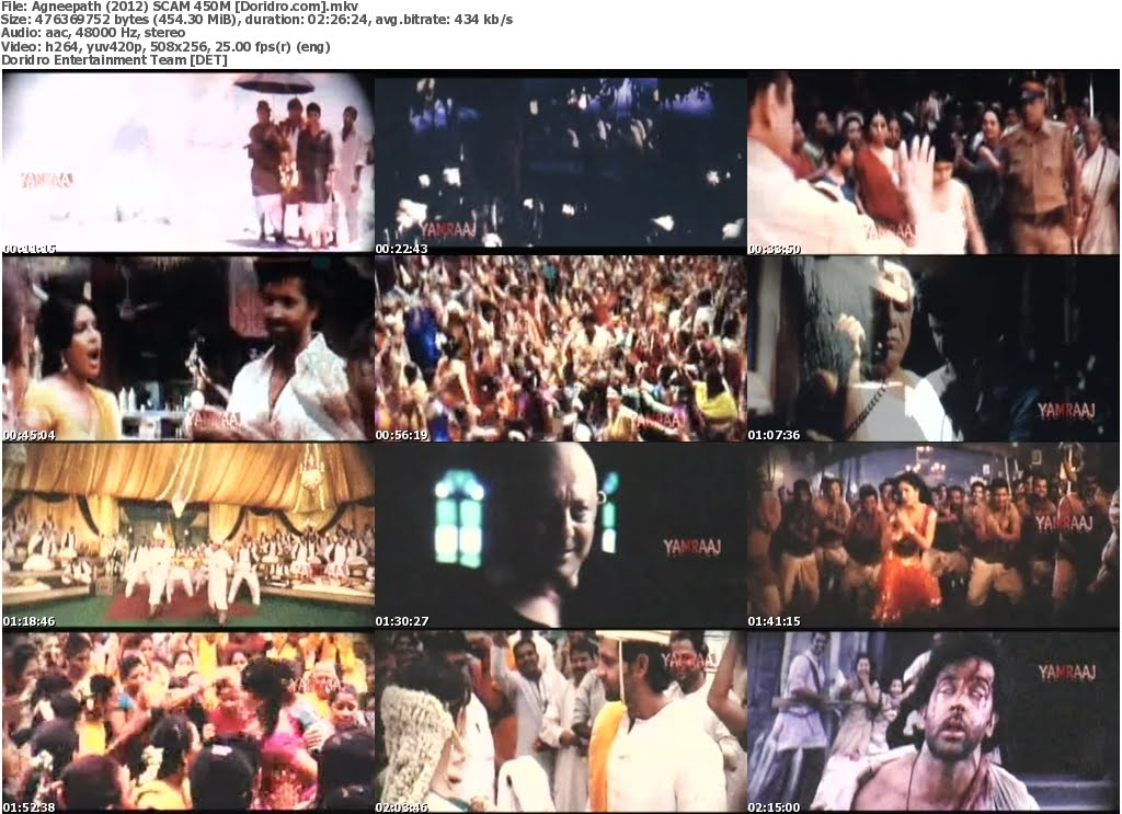 Agneepath (2012) Full Movie Download SCAM 450MB MKV