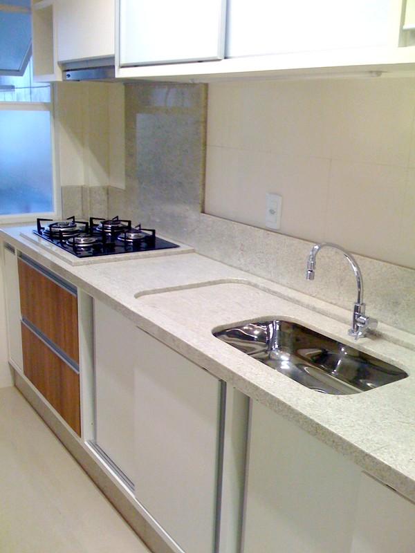 A Casa da Sheila Tons de granito e mármore # Bancada De Cozinha Granito Branco