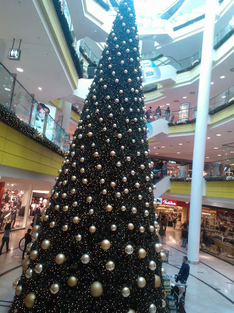 Christmas tree in one of Sofia's shopping centers