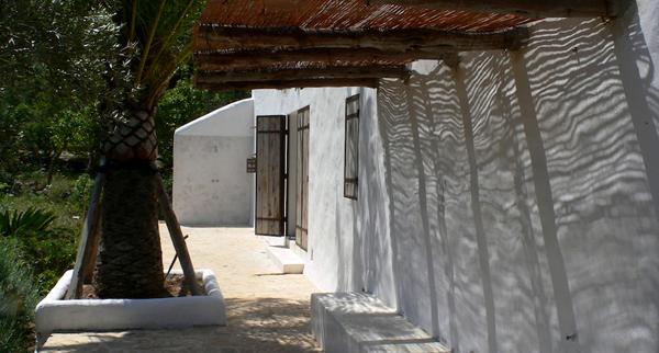 detalle exterior de la casa Ibicenca