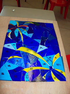 Stained Glass Art - Firework Inspired piece by Designs by Neelie