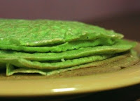 Panqueca Verde com Gergelim (vegana)