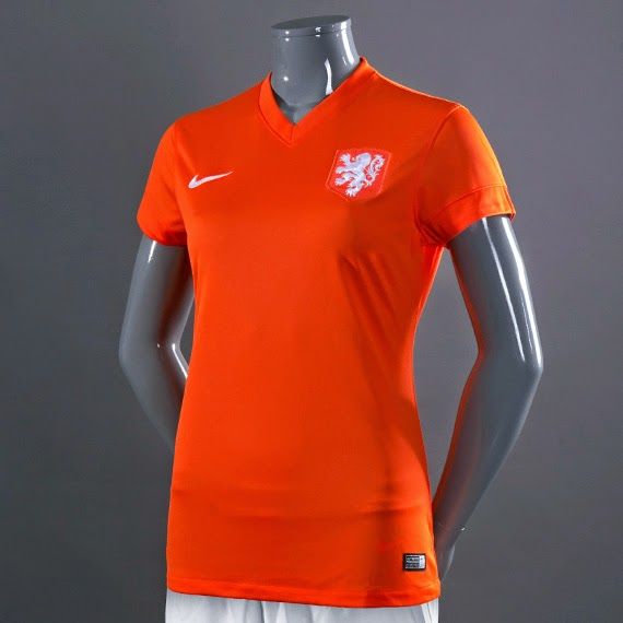 Nike Holland SS Home Stadium Womens Jersey - Safety Orange White