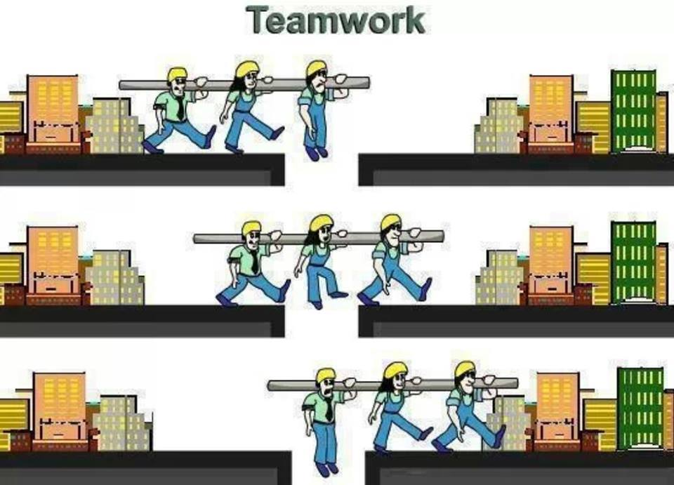 some examples of teamwork