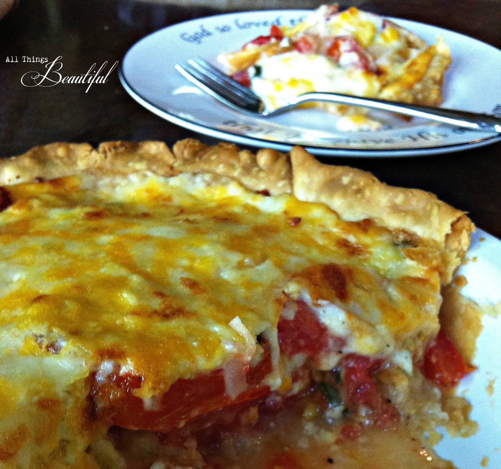 All Things Beautiful: {Tomato Pie} ain't no dessert