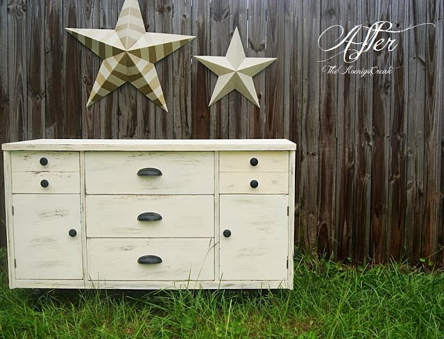 painted dresser makeover