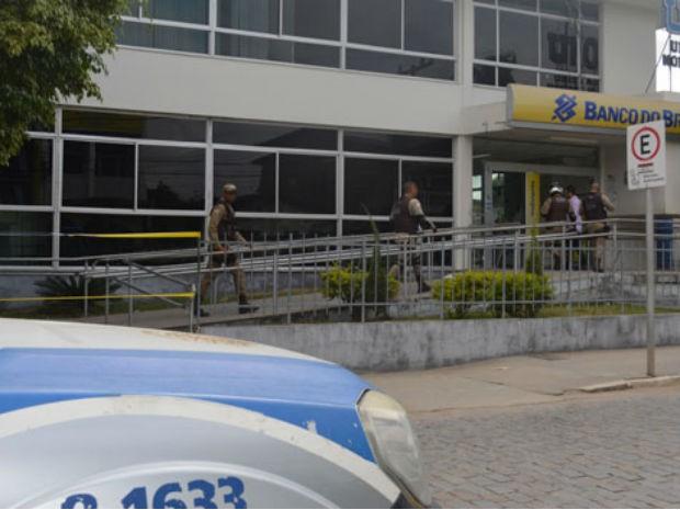 Bandidos conseguiram abrir o cofre da agência utilizando um maçarico  (Foto: Uoston de Souza Pereira/Site: Notícias de SantaLuz)