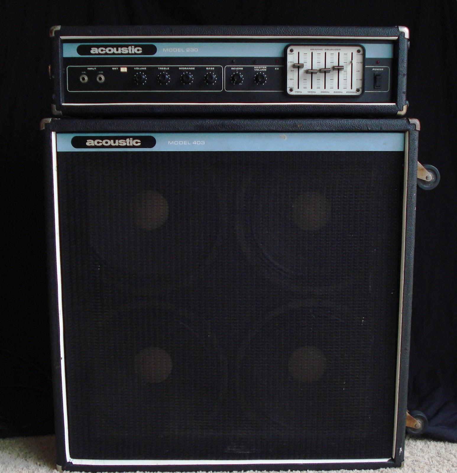 1978 Acoustic 230 Guitar Amp U0026 403 Cabinet