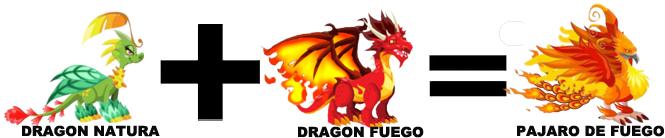 como sacar al dragon pajaro de fuego en dragon city combinacion 1
