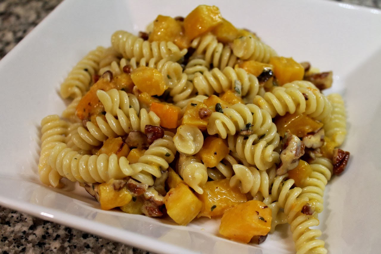Rotini with Blue Cheese, Squash and Sage