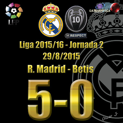 Bencema (3-0) - Real Madrid 5 - 0 Betis - Liga 2015/16 - Jornada 2 - (29/8/2015)
