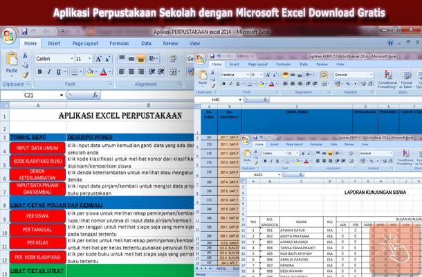 Aplikasi Perpustakaan Sekolah dengan Microsoft Excel Download Gratis