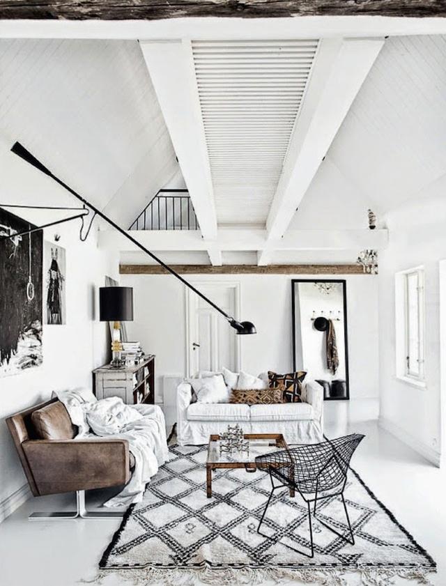 Apartamento sueco blanco negro tierras