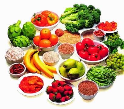 Buah-buahan sayuran dan kacang-kacangan Makanan kaya serat