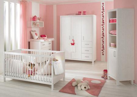 Hermosa habitaci n color rosa para una bebe decoracion - Decoracion habitacion rosa ...