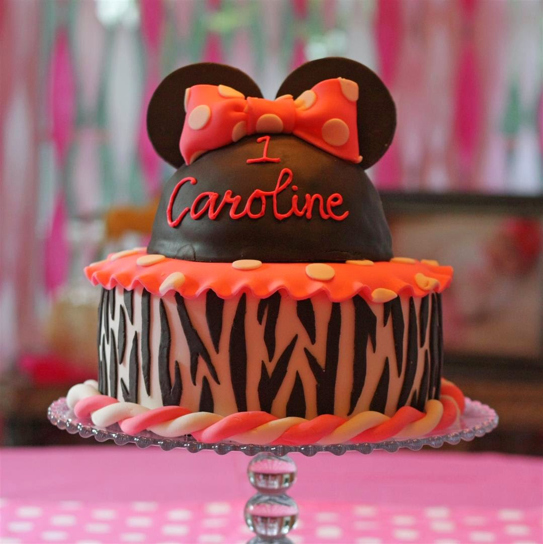 Minnie Mouse Zebra Cake #2