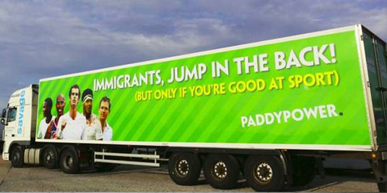 paddy power calais lorry banned