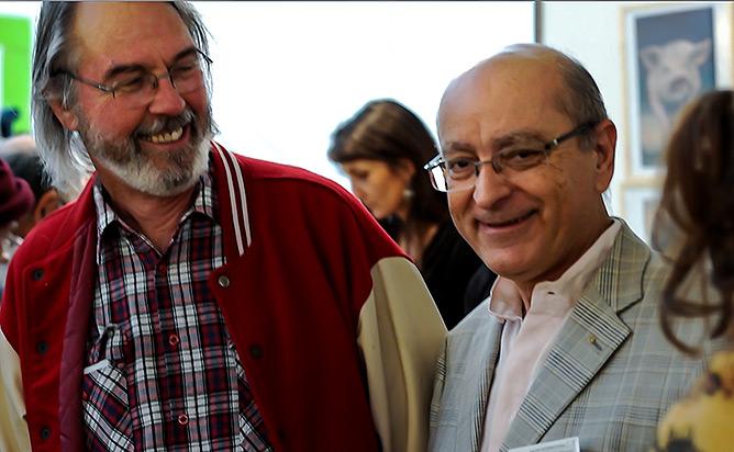 André Added au Salon du livre gourmand 2012 à Périgueux