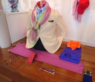 Paris, colorful men's fashion, Berteil
