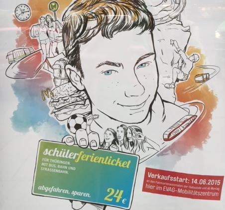 Mit dem <b>Schüler-Ferienticket</b> in ganz Thüringen mobil und viele Extras