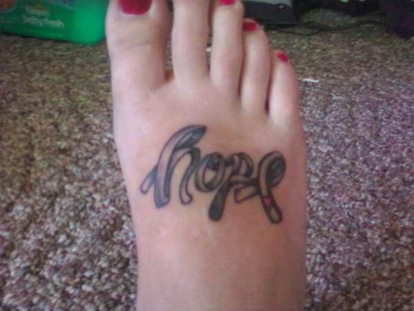 Tattoo Lettering Detail Brain Cancer Ribbon Tattoo Designs