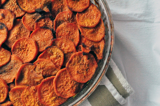 close top view of paleo sweet potato recipe