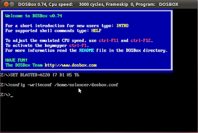 creating configuration file