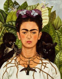 Autorretrato con collar de espinas y colibrí, 1940 de Frida Kahlo