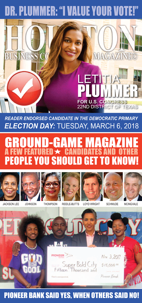 Dr. Letitia Plummer Receives 2018 HBC MAGAZINE© READERS CHOICE ENDORSEMENT