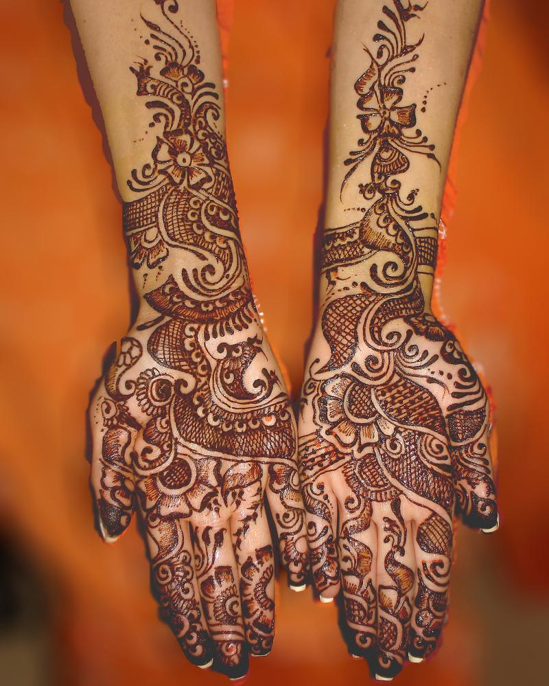 Mehndi Designs Full Hands Marriage : Mehndi style bridal designs for full hands