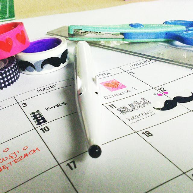 Kreatywna kartka z kalendarza