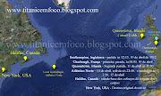 Mapa referencial com os locais relacionados à viagem, naufrágio e resgate .