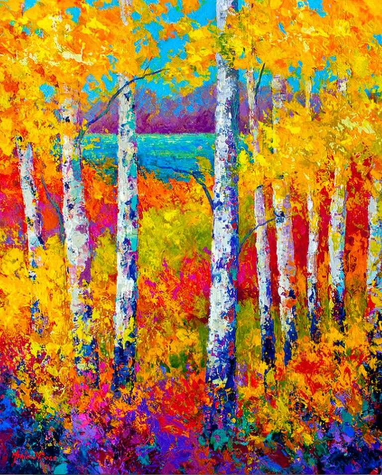 Pintura moderna y fotograf a art stica paisajes con - Cuadros modernos con texturas ...