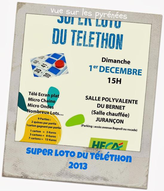 super loto du téléthon 2013 à Jurançon
