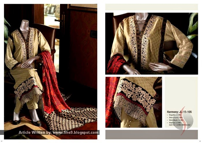 Junaid Jamshed Silk 2015 Dress Designs