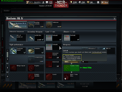 War Thunder - Turret Ammo Default