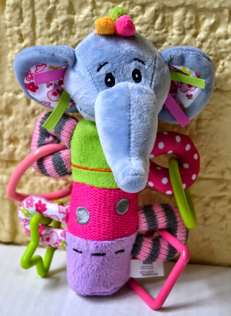 Nuby sqeeze n' squeak elephant toy