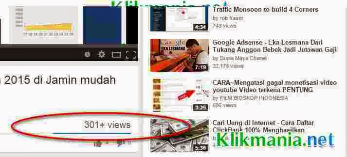 Penyebab View Youtube Berhenti Di 301