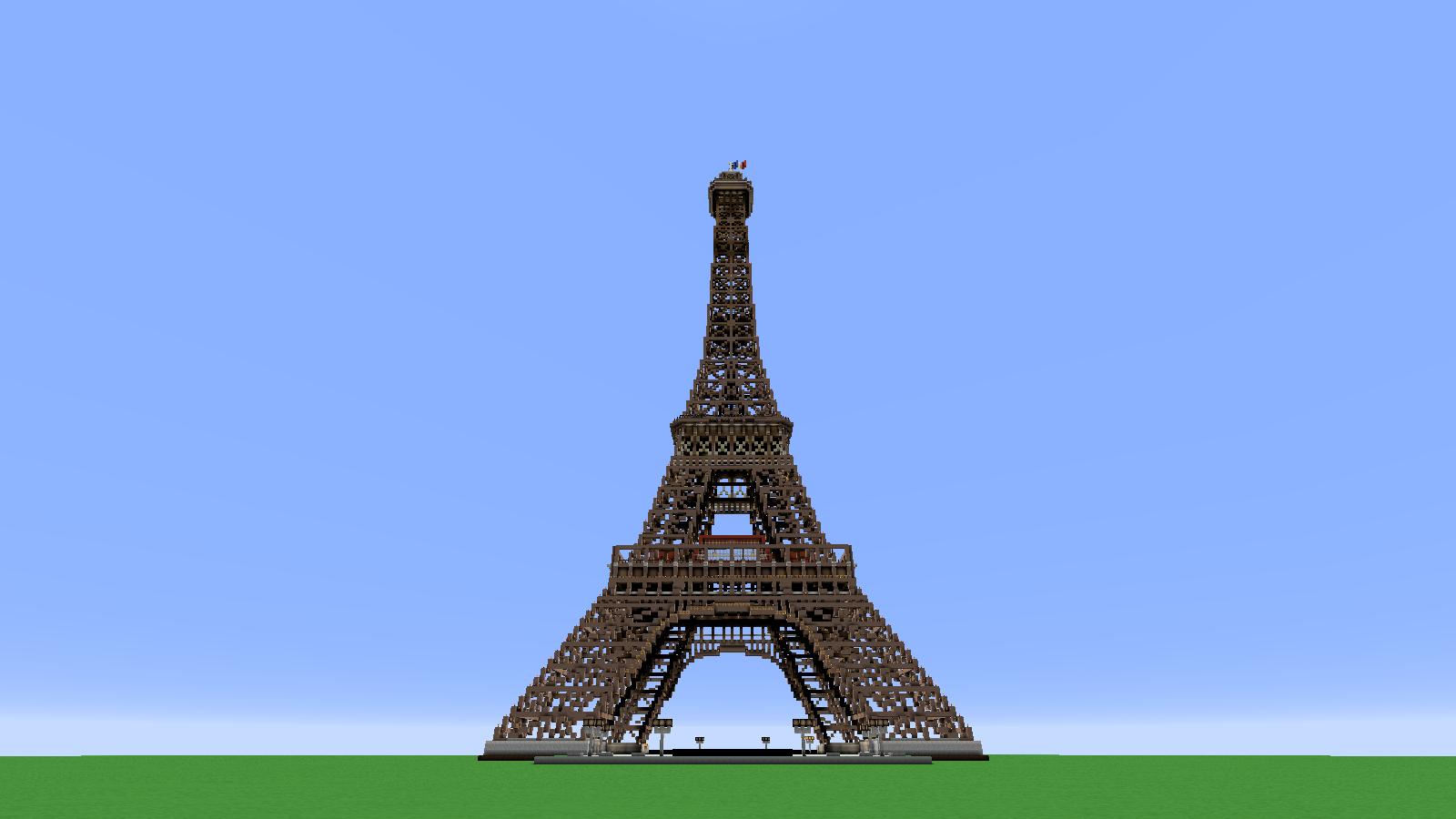 Minecraft architecture special 1000 views eiffel tower for Eiffel architect