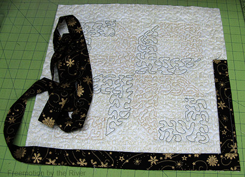 Attaching the binding to the back
