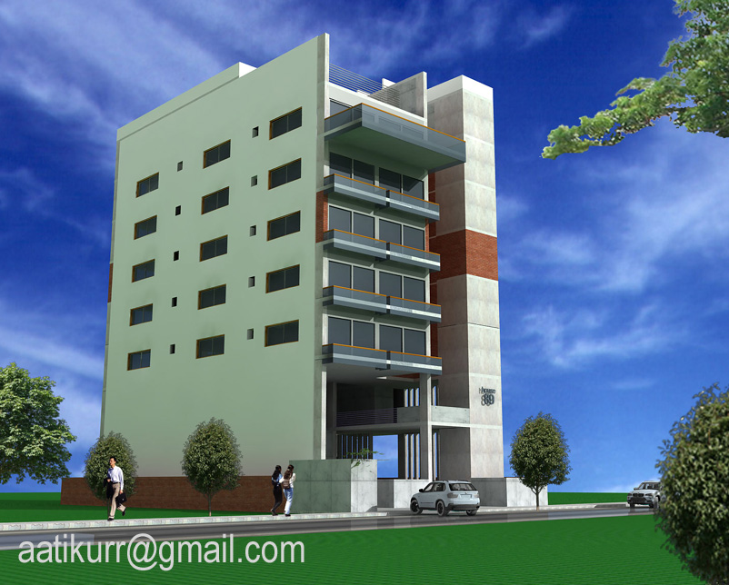 Aatikurr exterior design for Bangladeshi building design