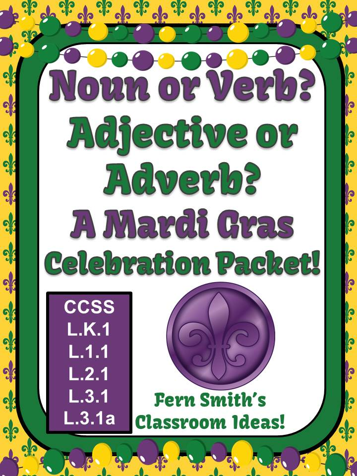 Fern Smith's Fern Smith's Noun or Verb? Adjective or Adverb? A Mardi Gras Celebration Packet