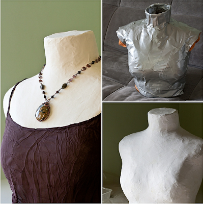 DIY mannequin jewelry display