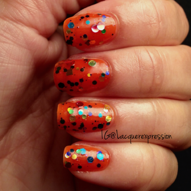 Revlon Colorstay Sunburst jelly sandwich manicure