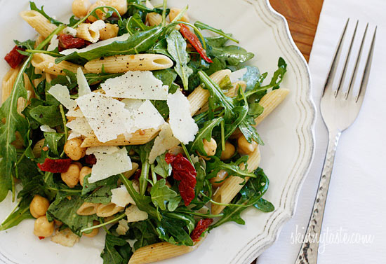... potato and arugula pasta with chickpeas pasta shells with arugula