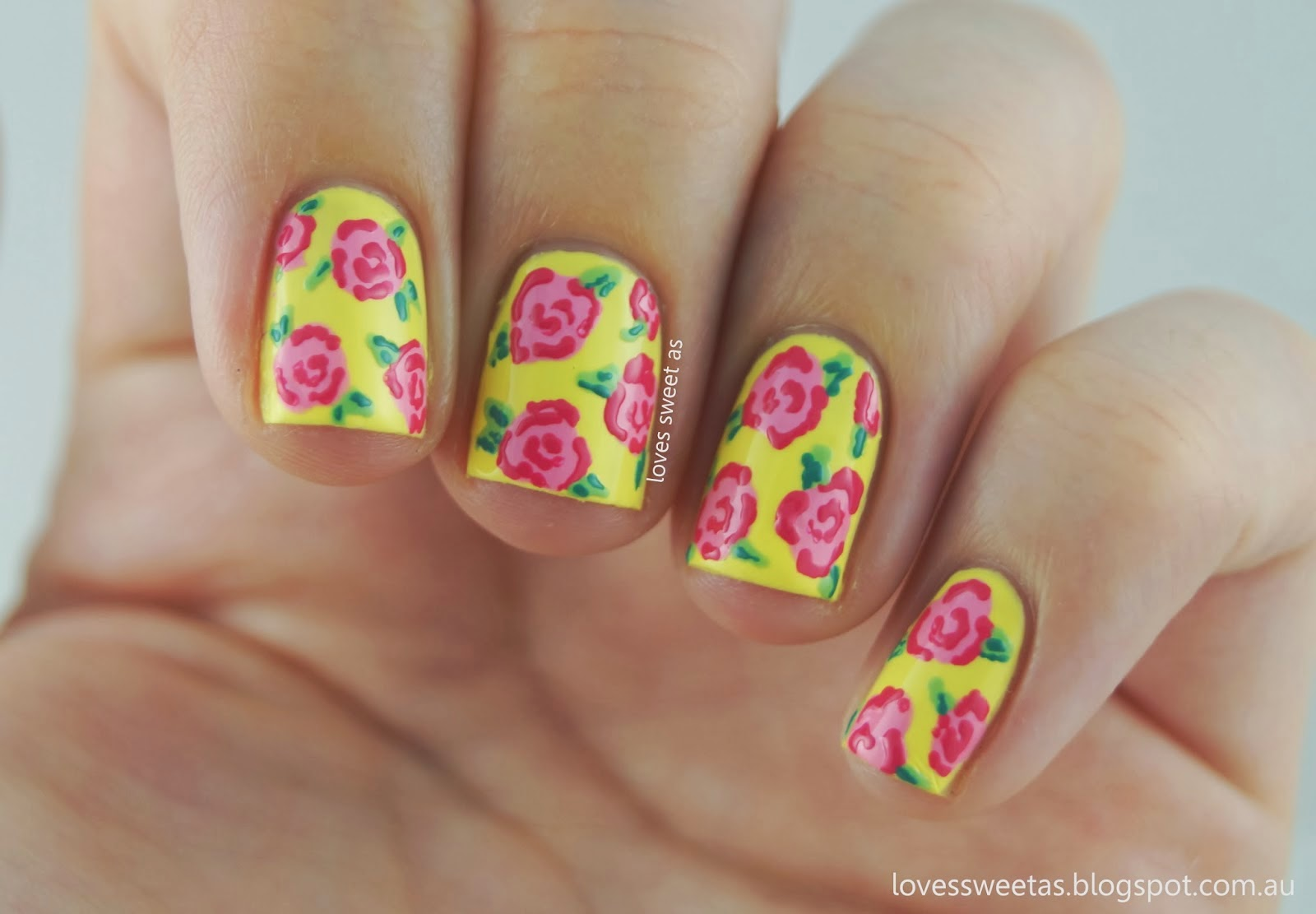 Loves sweet as nail art tutorial vintage roses ive been wanting to do nail art tutorials for a while now and now that i have this blog i hope it can become a regular thing prinsesfo Choice Image